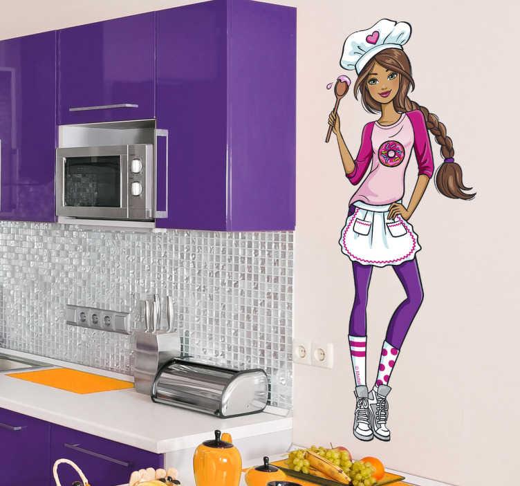 Vinilo infantil Barbie chef