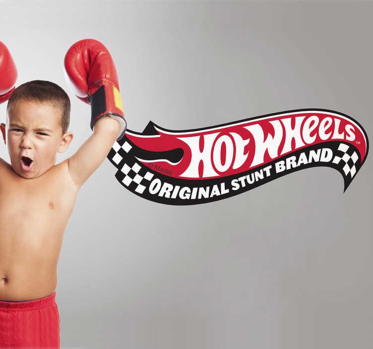 Adhesivo Mattel Hot Wheels logo