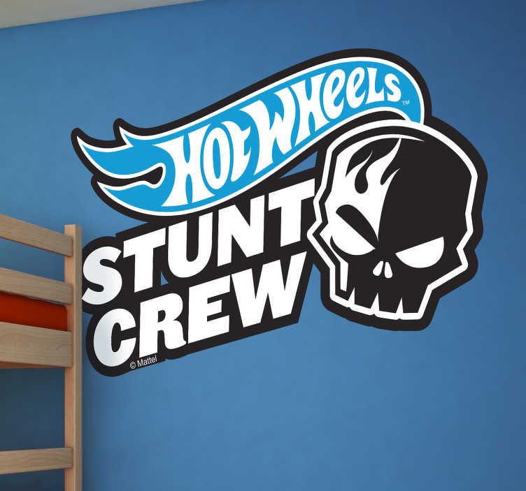 Sticker Hot Wheels stunt crew
