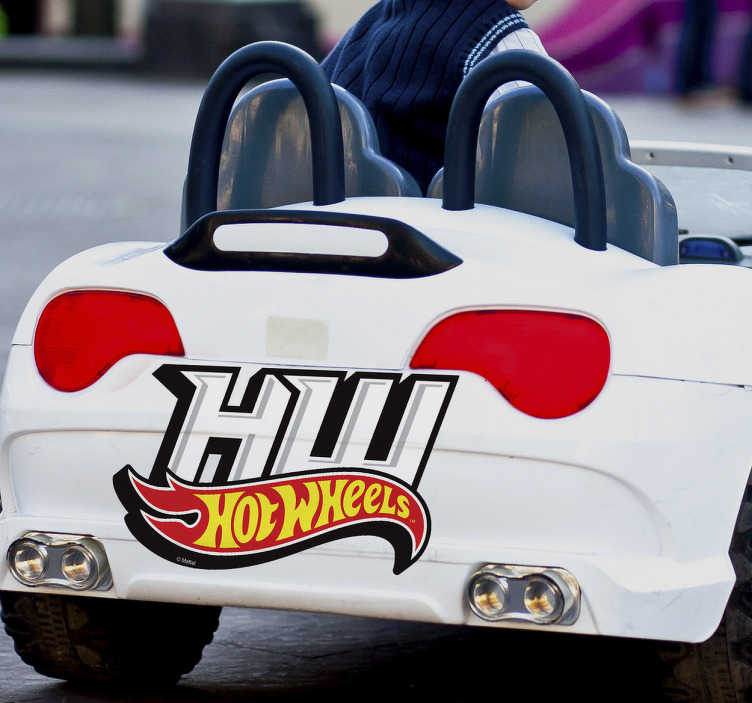 Vinilo Hot Wheels logotipo