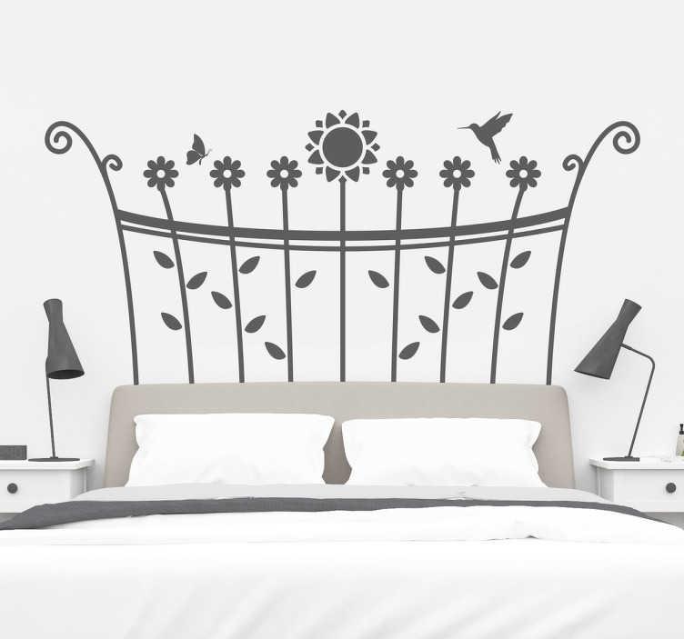 Vinilo cabecero de cama primavera tenvinilo for Vinilos decorativos para recamaras