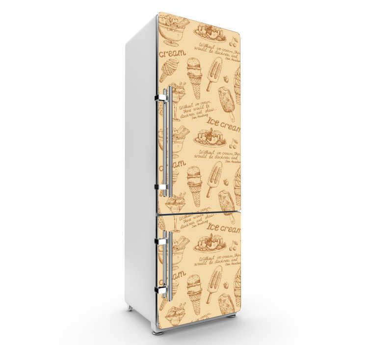 TenStickers. Stickers frigo vintage. Nosstickerspour électroménagers sont faits de plastique fin, ultra résistant qui leur permet de résister aux effets du temps et de l'humidité