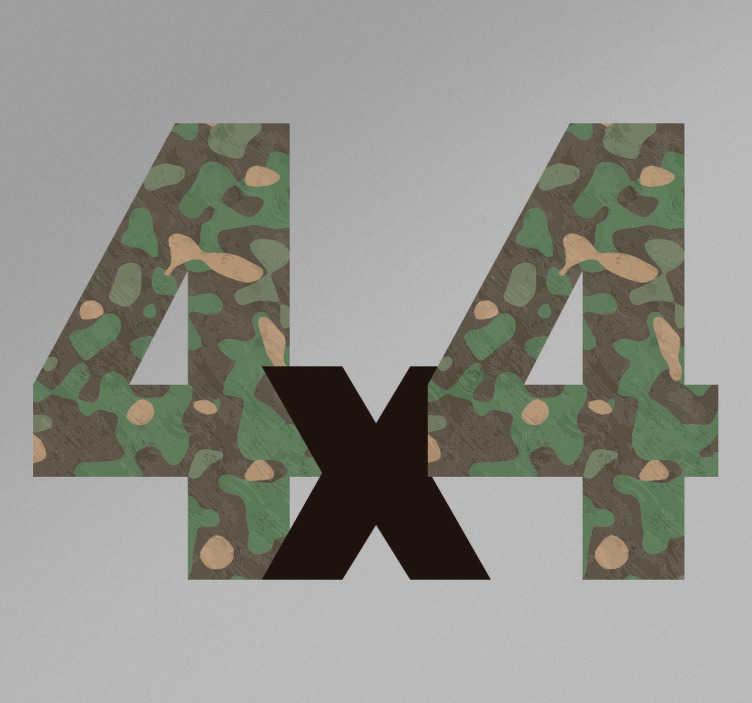 TenVinilo. Vinilo camuflaje 4x4. Pegatinas todoterreno con una textura tipo camuflaje de guerra. Stickers resistentes a la intemperie, fáciles de aplicar.
