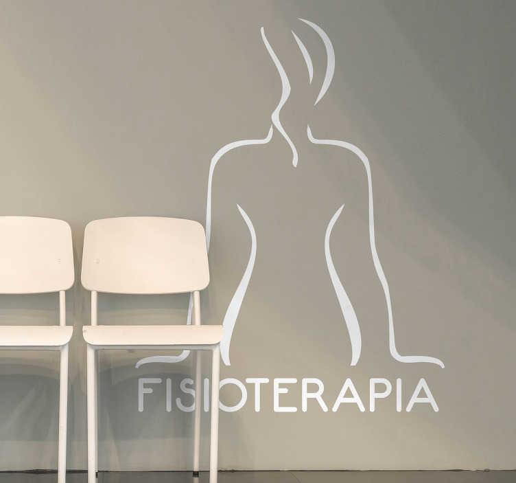 TenVinilo. Vinilo decorativo fisioterapia. Vinilos para negocios fisioterapeuta con un elegante diseño que podrás aplicar tanto en las paredes como sobre los cristales de entrada.