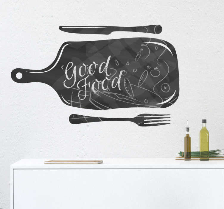TenStickers. Meal sticker to write on. We help you decorate your recipes with this write on sticker for your kitchen where you can write and draw everything you want.
