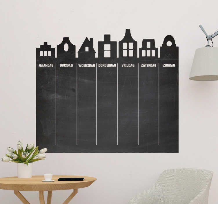 TenStickers. Weekly plan chalkboard  sticker to write on decal. A self adhesive wall sticker you can write on, designed in form of a chalkboard for you . It is available in any required size and easy to apply.