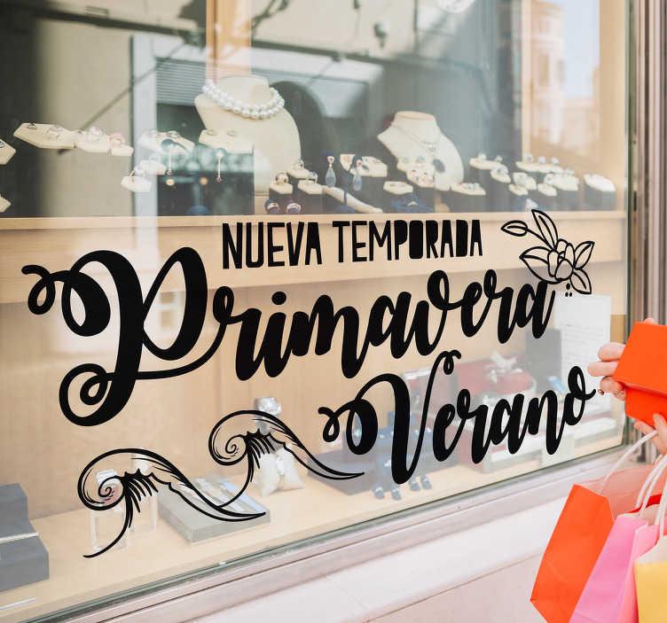 TenVinilo. Vinilo primavera verano. Vinilos para escaparates para promocionar los productos que ofrecerán a sus clientes para la campaña primavera-verano.