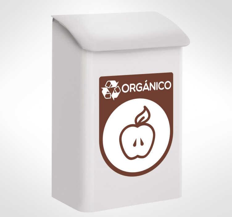 TenVinilo. Pegatinas reciclaje orgánico. Adhesivos para papeleras y cubos de basura tanto del hogar como de oficinas  con el icono de residuos orgánicos.