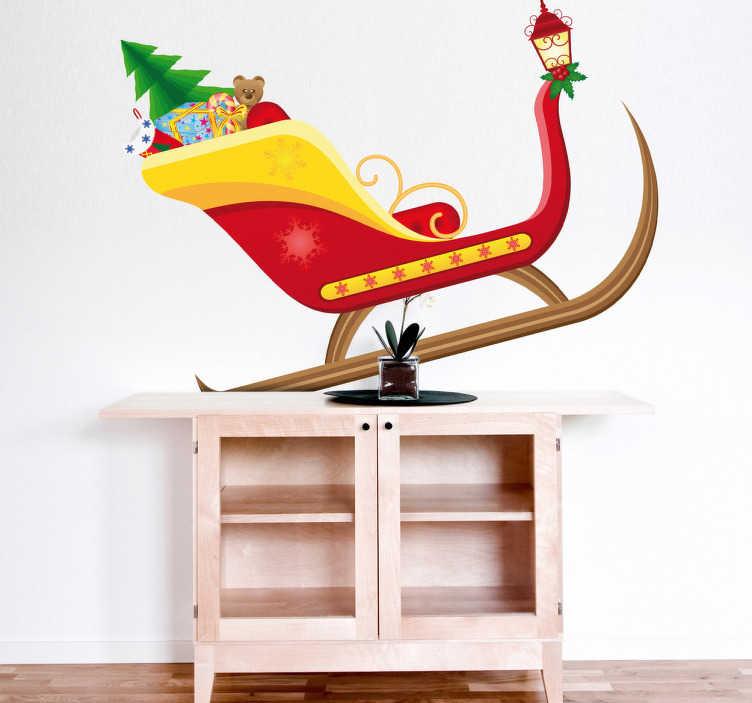 Vinilo decorativo carro Papá Noel