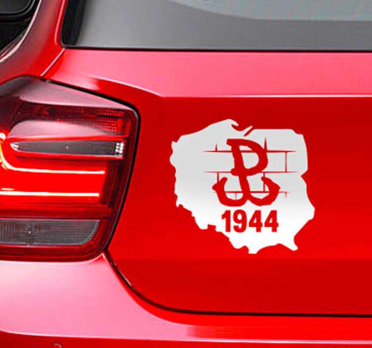 TenStickers. Poland Patriotic Car Decal. Decorative Poland Patriotic to decorate a vehicle or any flat surface of choice. It is easy to apply and adhesive. Buy it in any required size needed.