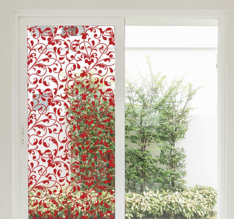 TenStickers. Raamfolie bloemen patroon. Deze raamsticker met een bloemen patroon is een leuke en makkelijke decoratie voor in de keuken. Kleur en afmetingen aanpasbaar. Ook voor ramen en auto's.