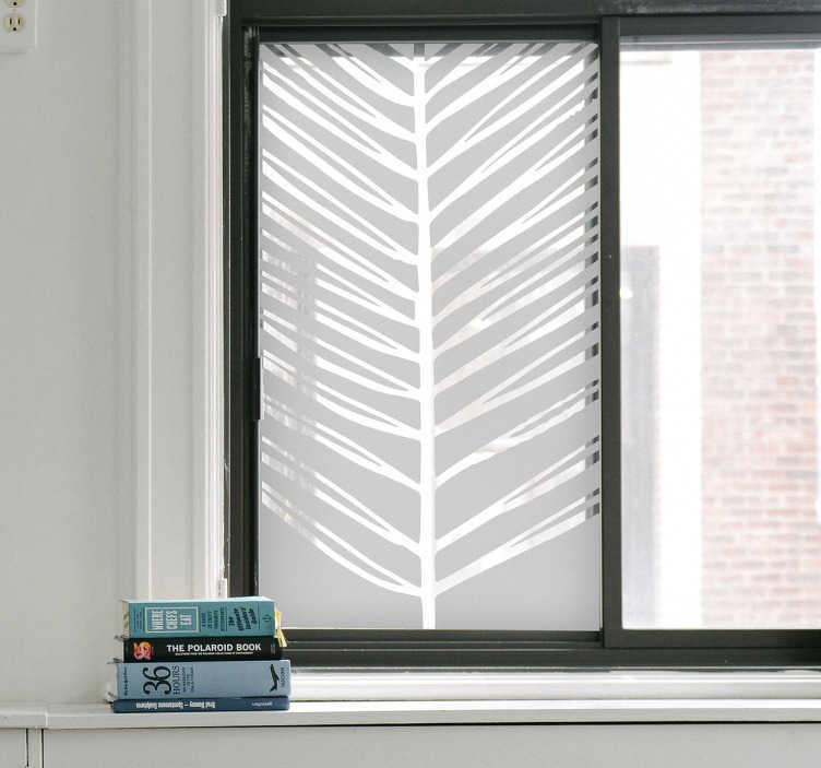 TenStickers. Naklejka na okno egzotyczny liść. Naklejka na okna, przedstawiająca tropikalny liść. Jeśli jesteś fanem egzotycznych miejsc, pokochasz tą naklejkę!