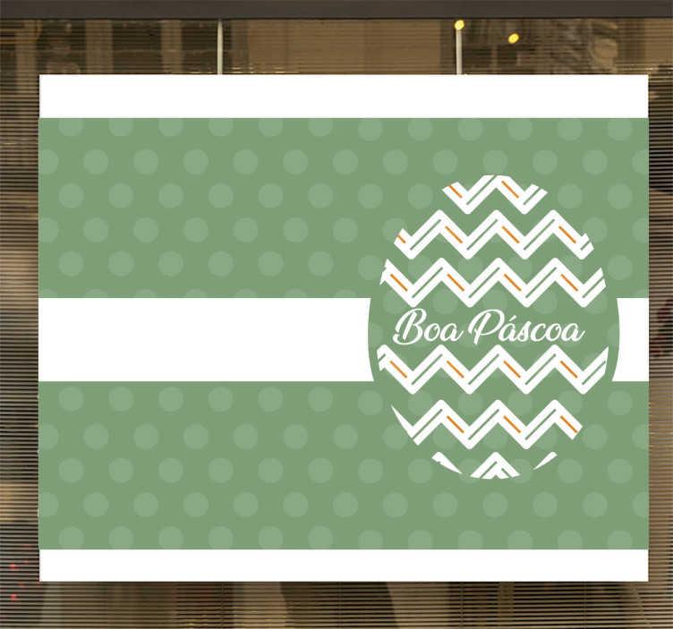 TenStickers. Autocolantes para Empresas montras páscoa. Vinil autocolante com desenhos festivos. Este é ideal para decorar as suas paredes na altura da páscoa. Cores e medidas personalizáveis.