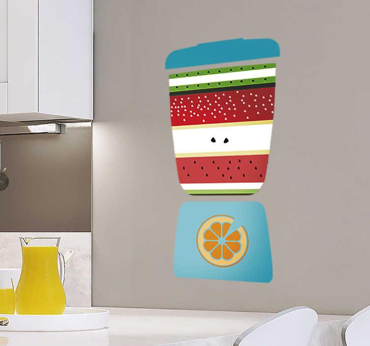 TenStickers. Autocolantes de Gastronomia cozinha sumo. Vinis autocolantes decorativos de frutas ideal para colar na parede da sua cozinha. Cores e medidas personalizáveis. Anti-bolha e resistentes.