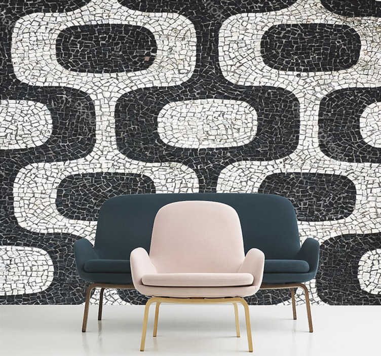 TenStickers. Portuguese stone sidewalk texture wall decal. Portuguese stone sidewalk texture wall sticker to decorate the home in classic style. It is available in any required size.