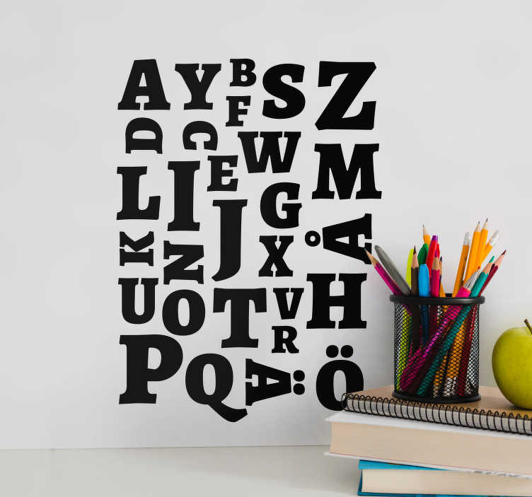 TenStickers. Letter Set text wall decal. Alphabet Set text wall sticker to decorate an office or business space . It is available in different colours and size option.