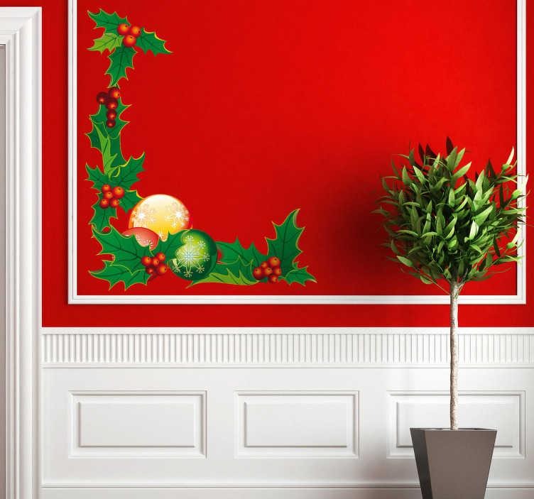 Naklejka dekoracyjna świąteczny róg