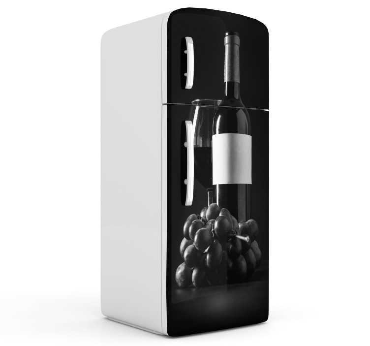 TenStickers. Wine Bottle Fridge Sticker. Decorate your fridge with this fantastic kitchen decal! Choose your size.
