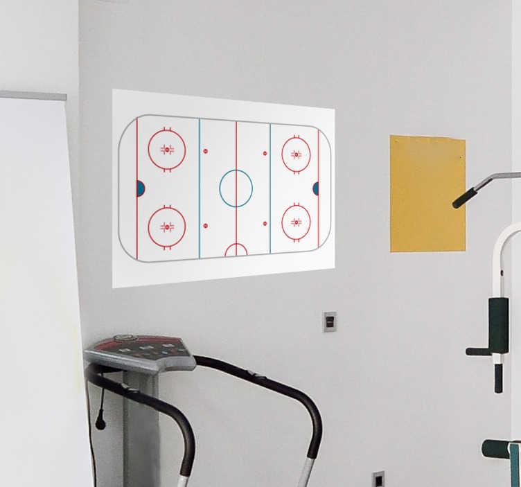 Tenstickers. Jääkiekko taktiikkataulu seinätarra. Pukukoppiin tai jäähallin kahvioon valkotaulu seinätarra joka pysyy varmasti tallessa Hio joukkueesi taktiikkakuviot kuntoon tällä