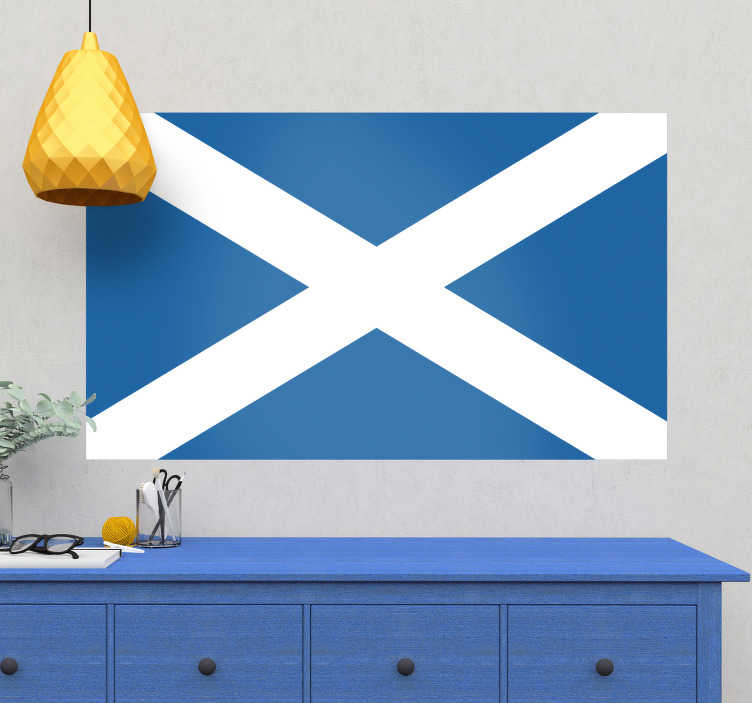 TenStickers. Scotland Flag Wall Sticker. High quality Scotland flag wall sticker. Perfect as living room or bedroom décor to show off your pride for the great nation. Use this simple yet striking wall decal around your home or as a car sticker to add a touch of personality to those empty spaces.