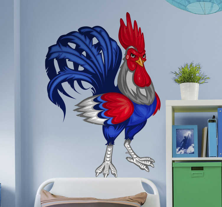 Sticker coq emblème France