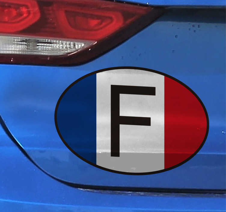 Sticker voiture France tricolore