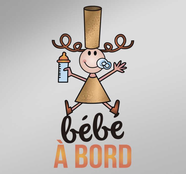TenStickers. Stickers voiture A l'aise Breizh bébé à bord. Sticker pour voiture représentant une bébé breton avec une coiffe bigoudène. Un autocollant bébé à bord que vous pourrez coller sur vos véhicule, pour y apporter une petite touche originale, et montrer votre amour pour la Bretagne.