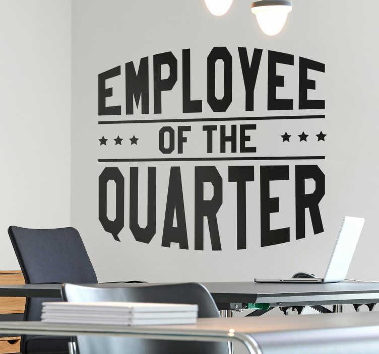Employee Of The Quarter Wall Sticker Tenstickers