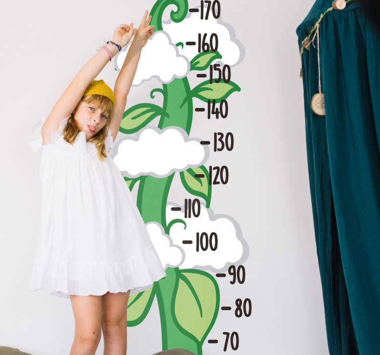 TenStickers. Beanstalk Height Chart Wall Sticker. Kids beanstalk height chart wall sticker to measure how fast your children are growing, perfect for decorating a child's room! Who doesn't love the story of Jack and the Beanstalk? The giant, the magic beans