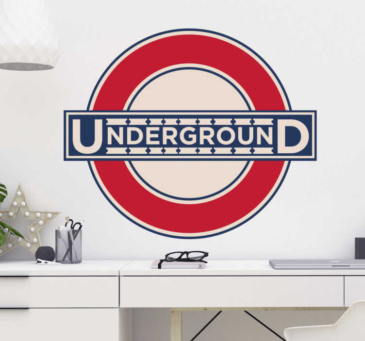 TenStickers. London Underground Wall Sticker. London Underground wall sticker for decorating any room your bedroom, living room or teen's room, or personalising your laptop or tablet. This vintage London tube logo is ideal for adding that interesting touch to the empty spaces in your home decor.