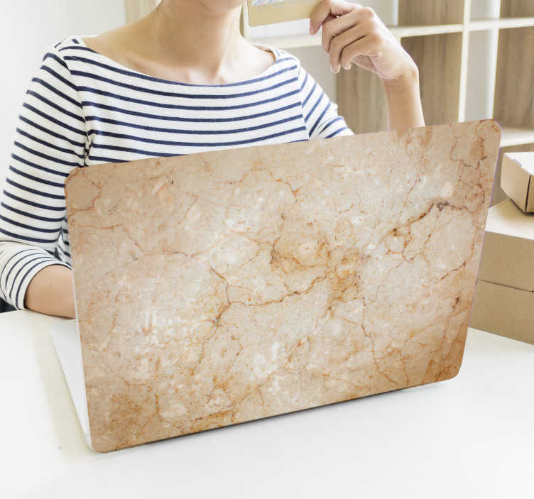 TenStickers. Marble Laptop Skin Sticker. Marble laptop skin to personalise your laptop or tablet as well as protect it from scratches and dust. +10,000 satisfied customers.