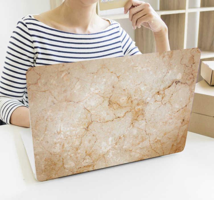 TenStickers. Marmurowa naklejka na laptopa. Marmurowa skórka laptopa do personalizacji laptopa lub tabletu, a także do ochrony przed zadrapaniami i kurzem. Wyróżnij swoje urządzenie dzięki temu stylowemu i klasycznemu wzorowi marmurowej tekstury na komputery i urządzenia.