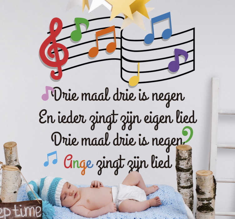 TenStickers. custom children's song  nursery rhyme wall sticker. Children nursery rhyme wall art decal for bedroom decoration . It is available in different size option. It is easy to apply and adhesive.