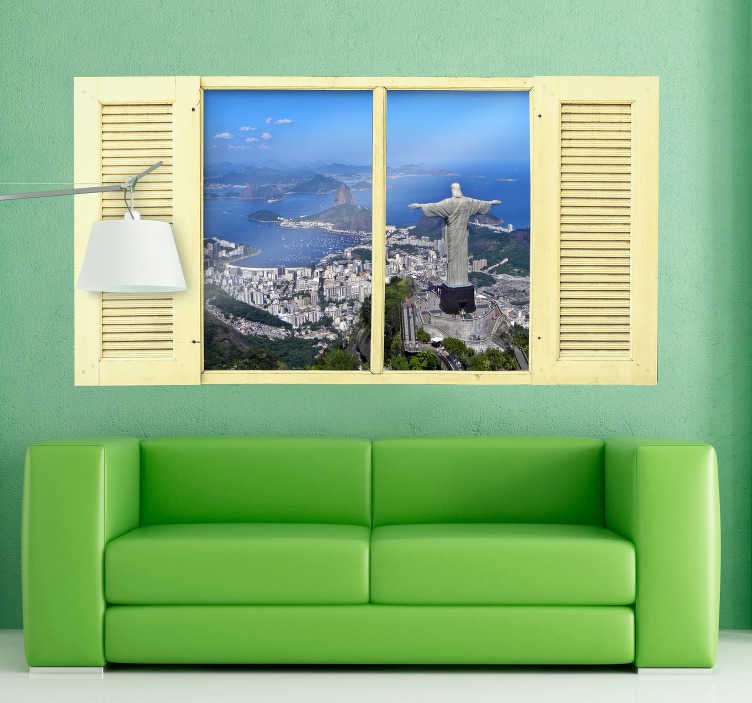 TenStickers. Christ the Redeemer Wall Sticker. A magnificent wall sticker for lovers of a good view!