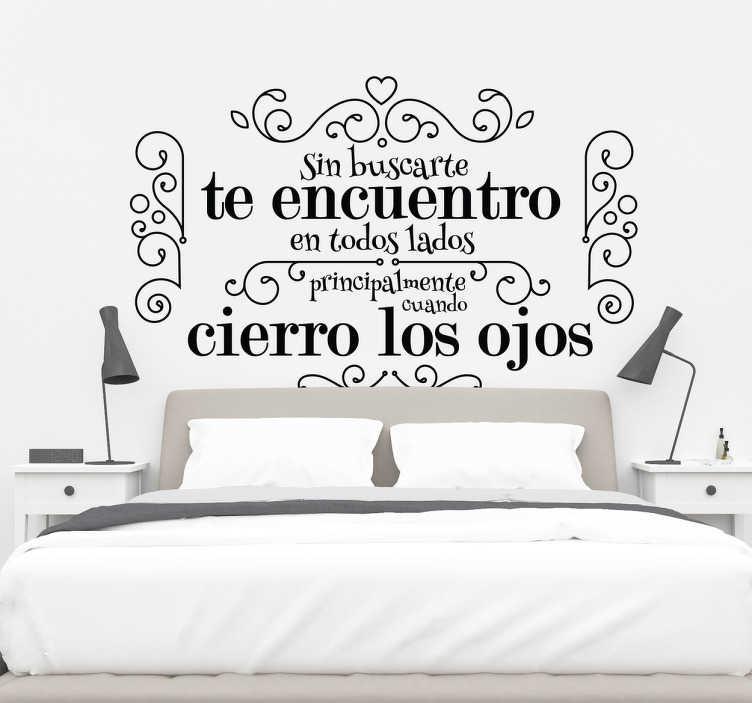 Vinilo frase de amor para dormitorio tenvinilo - Frases para vinilos habitacion ...