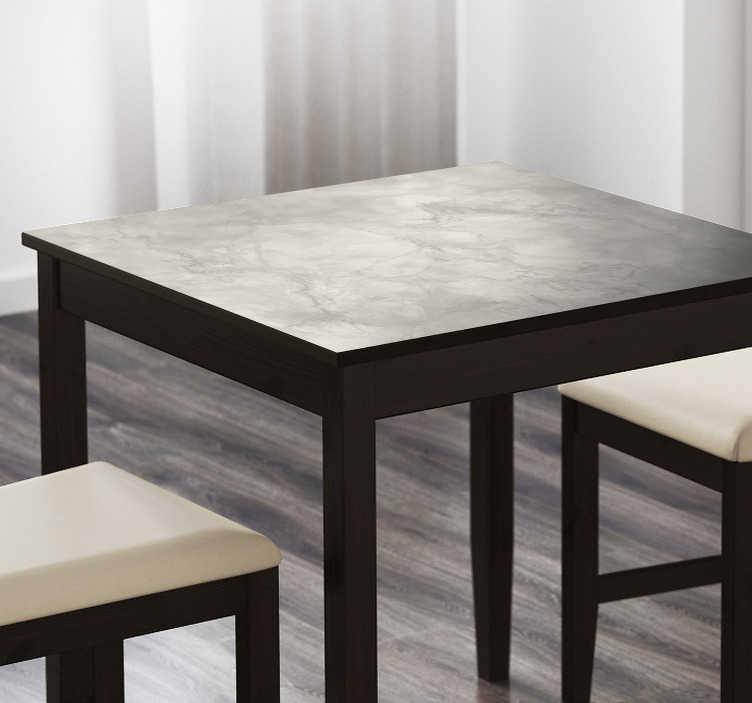 TenVinilo. Vinilo para mueble mesa efecto mármol. Pegatina personalizada estampado mármol, una manera elegante de decorar cualquier mobiliario de tu hogar, especial para mesas.
