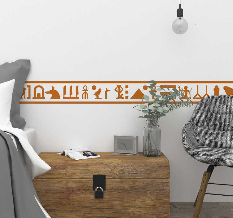 TenStickers. Hieroglyphics Wall Sticker. Decorate your home with this brilliant Egyptian style bedroom sticker! +10,000 satisfied customers.