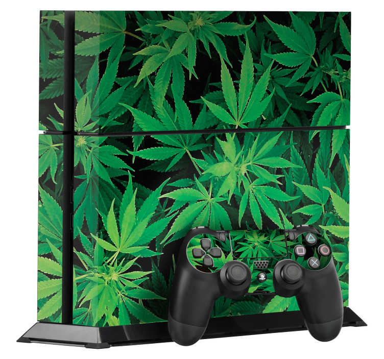 TenStickers. Marijuana PS4 Skin. Weed PS4 skin for personalising your PS4 console and controller and making it stand out from the rest. Use this awesome marijuana PS4 sticker to show your love for 420 and all things cannabis related.