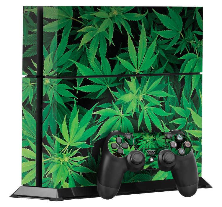 TenVinilo. Pegatina para PS4 plantas de marihuana. Atrevido vinilo adhesivo para Play Station 4 y controladores con estampado de la planta de la marihuana. Atención al Cliente Personalizada.