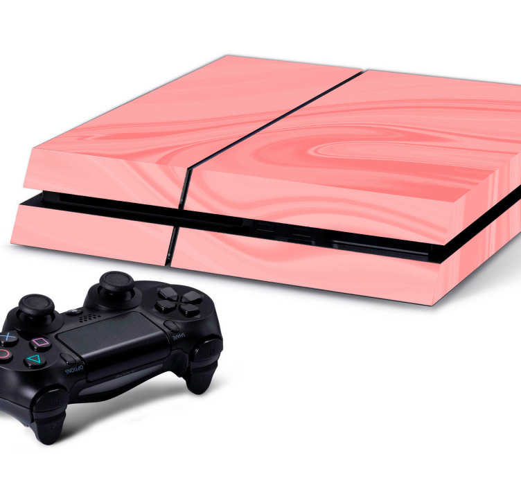 TenStickers. Playstation skin roze textuur. Deze Playstation skin is voor de echte liefhebbers van de kleur roze. Deze skin heeft een roze kleur met een donkere streep roze erdoorheen.