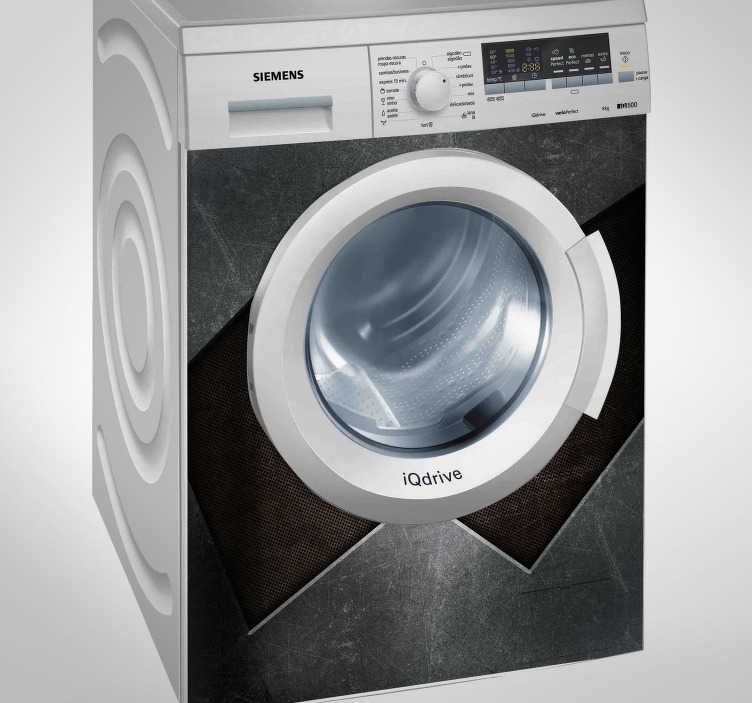 TenStickers. Metal Effect Washing Machine Sticker. Garnish your washing machine with this fantastic washing machine sticker! +10,000 satisfied customers.