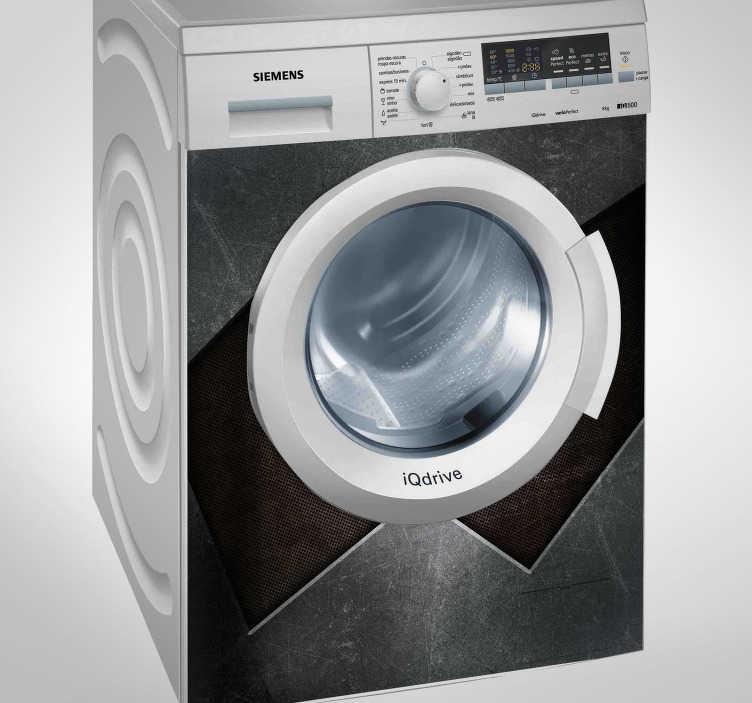 TenStickers. Autocolante máquina de lavar padrão metal. Já é possível decorar a sua máquina de lavar com este autocolante decorativo com o padrão de metal, para dar outro estilo a ela.