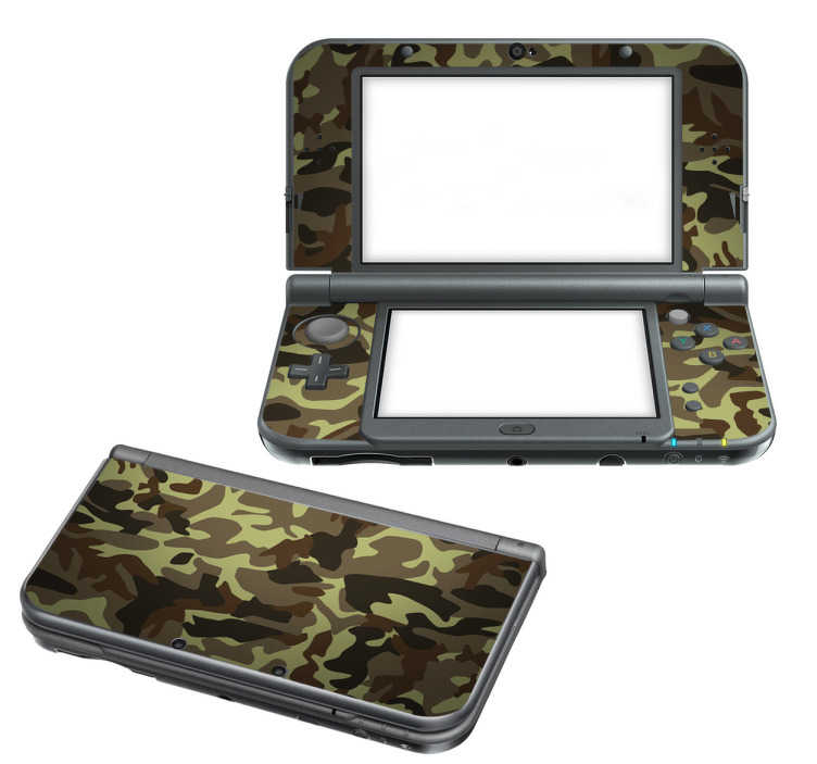 TenStickers. Sticker 3DS XL camouflage. Sticker pour console adapté pour Nintendo 2DS, 3DS XL et New 3DS XL au design militaire. Un adhésif de qualité qui vous permettra de transformer votre console de jeu. Un skin camouflage qui vous permettra d'apporter un style camouflage à votre console Nintendo.