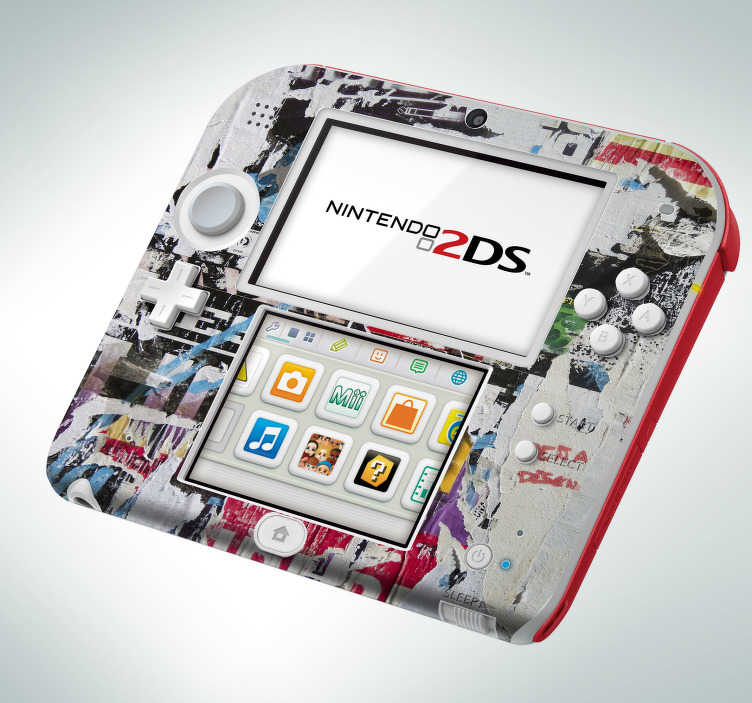 TenStickers. Sticker Nintendo personnalisable. Stickers pour 3DS XL, New 3DS XL et 2DS personnalisable. Grâce à ce sticker vous pourrez transformer votre console avec votre propre image ou design, pour avoir une console unique en son genre!