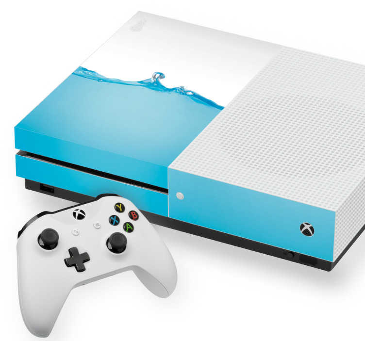 TenStickers. Naklejka na Xbox z motywem błękitnej wody. Naklejkana Xbox z niesamowitym motywem błękitnej wody. Nadaj swojemu Xbox stylu i oryginalności z naszymi naklejkami!