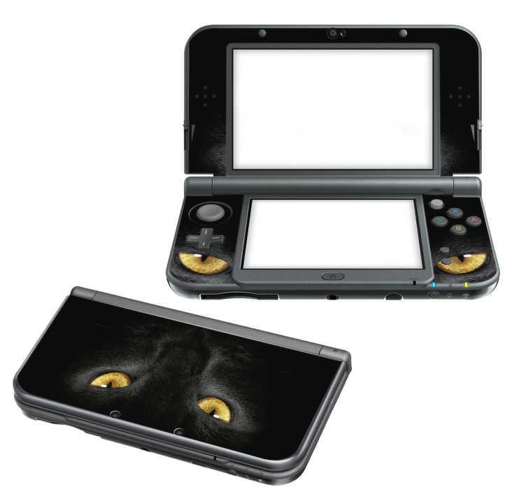 TenStickers. Sticker Nintendo 3DS XL tête de chat. Sticker pour console adapté aux 2DS, 3DS XL et New 3DS XL représentantune tête de chatnoir. Un sticker original qui vous permettra de transformer l'aspect de votre console de jeu.