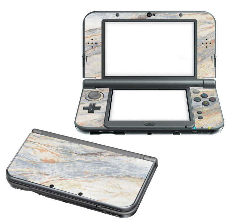 TenStickers. Naklejka na Nintendo z  Motywem marmuru. Naklejka na Nintendo z cudownym motywem marmury, idealna dla wszystkich, którzy pragną nadać swojemu Nintendo trochę stylu!