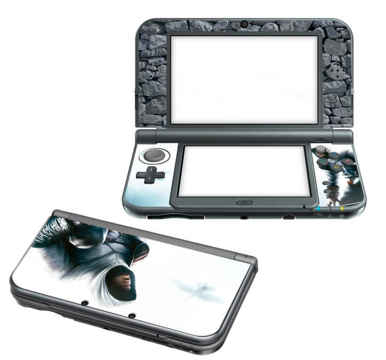TenStickers. Sticker 3DS XL Assasins Creed. Stickers pour 3DS XL, New 3DS XL et 2DSreprésentant le protagoniste du jeu Assassin's creed, titre devenu aujourd'hui un grand classique du jeu vidéo. Grâce à notre sticker, votre console basique pourra vous ressembler!