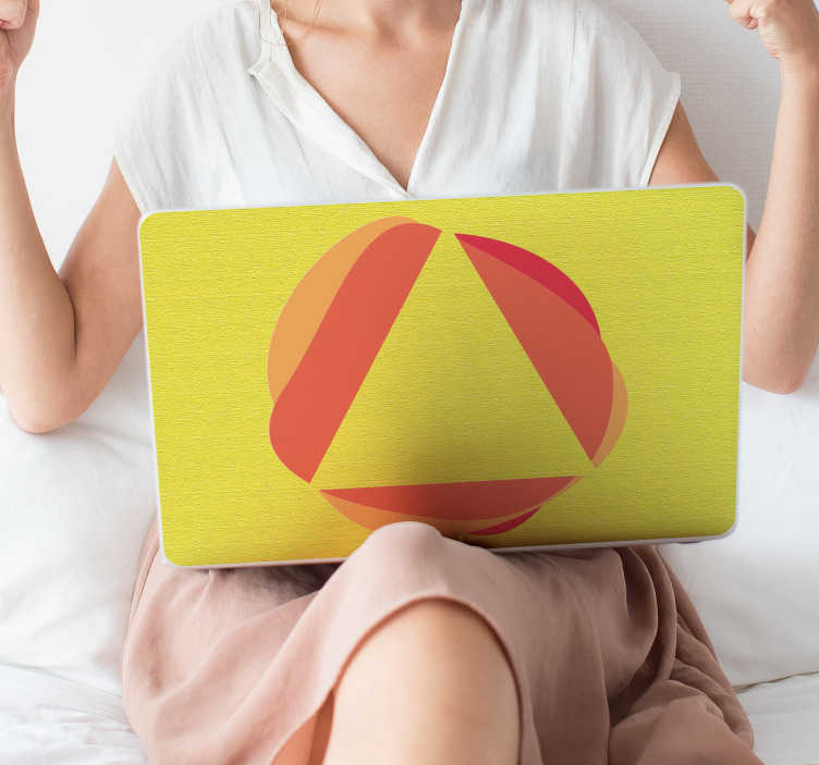 TenStickers. Abstract notebook laptop skin decal. Adhesive abstract notebook laptop skin decal to decorate your laptop surface in style. It is available in any size inches. Easy to apply and adhesive.