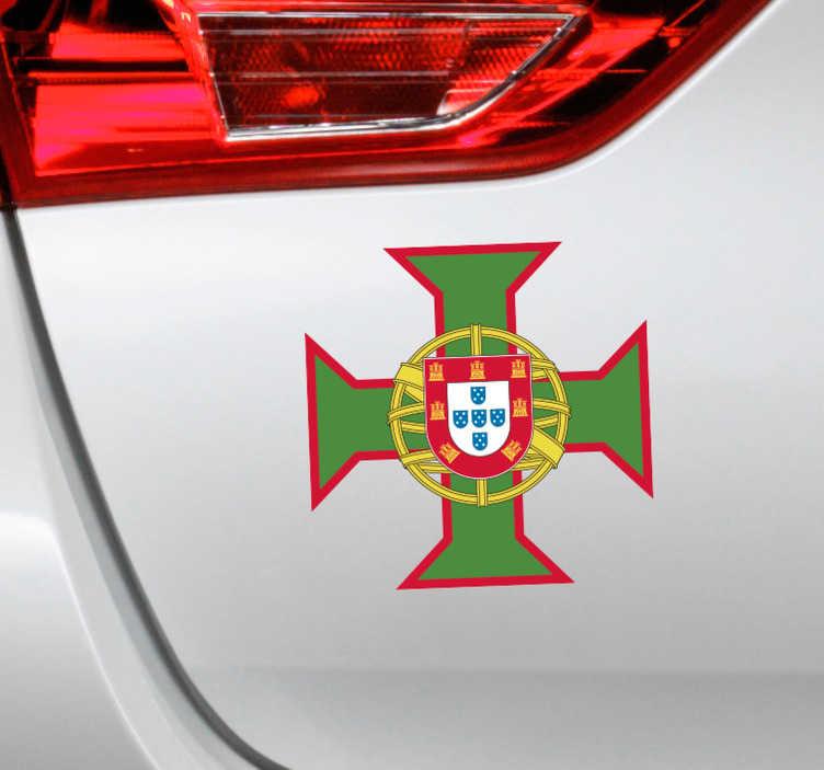 TenStickers. Vinil decorativo cruz de Portugal. Quem é que é fã da cruz de Portugal? Este vinil decorativo da cruz de Portugal vai lhe preencher as medidas e os gostos.